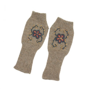 Camel Pisco Fingerless Gloves