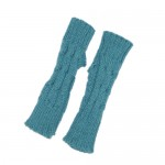 Turqoise Fingerless Gloves (Kids)