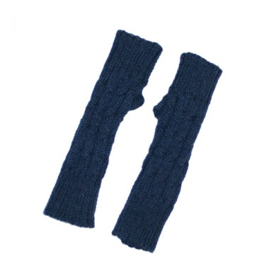 Navy Fingerless Gloves (Kids)