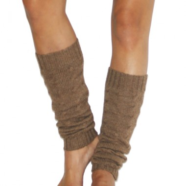 Cable Knit Camel Leg Warmers