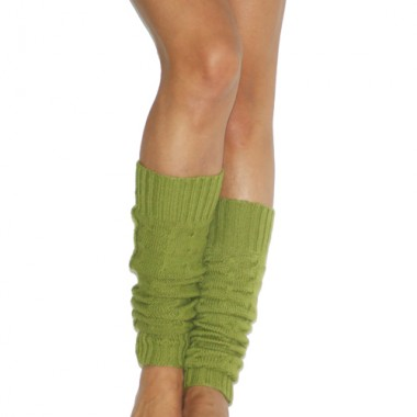 Cable Knit Verde Leg Warmers