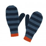 Jeans Striped Blue Mittens
