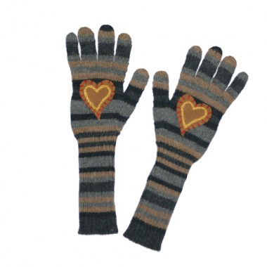 Corduroy Hearts Texting Gloves