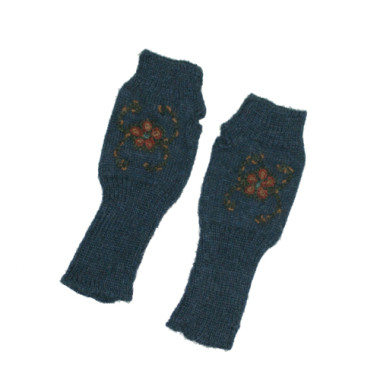 Navy Pisco Fingerless Gloves