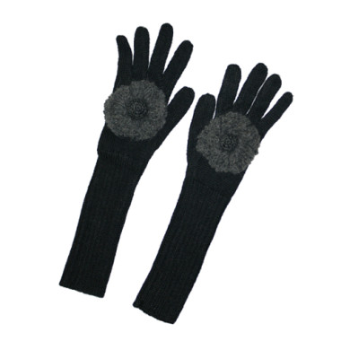 Floppy Poppy Texting Gloves