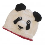 Panda Hat With Red Trim For Kids