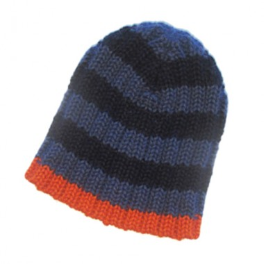 Jeans Blue Striped Hat For Kids