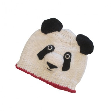 Panda Hat With Red Trim