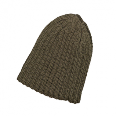 Ribbed-Knit Olive Watch Cap